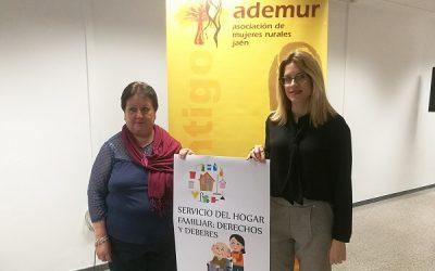 ADEMUR Jaén asesorará a las mujeres inmigrantes sobre los derechos y las obligaciones del servicio en el hogar familiar