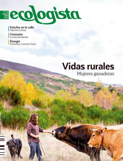 Mujeres ganaderas, portada de la revista Ecologista de invierno